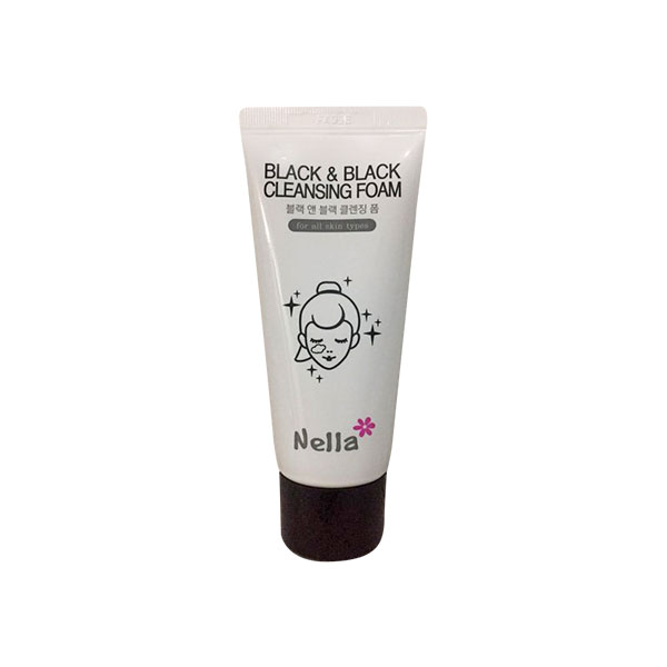 Nella black & black cleansing foam