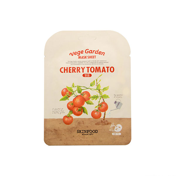 Vege Garden Cherry Tomato Mask Sheet